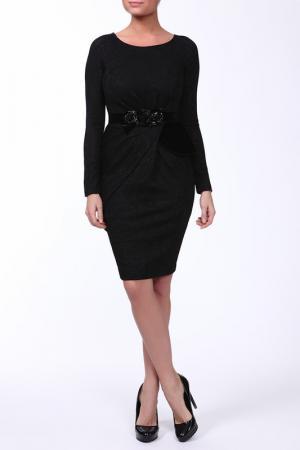 Платье VDP. Цвет: черный