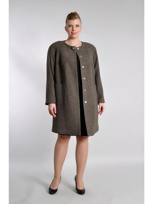 Пальто Forus. Цвет: светло-коричневый