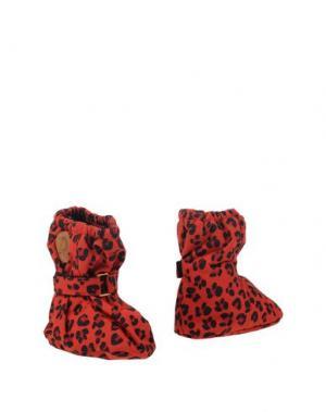 Обувь для новорожденных MINI RODINI. Цвет: красный