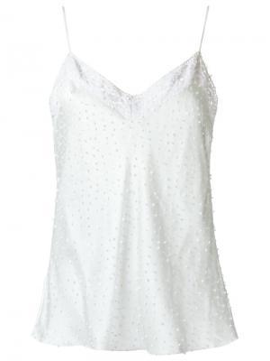 Silk embroidered top Isabela Capeto. Цвет: белый
