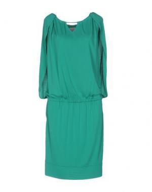 Платье до колена ROBERTA SCARPA. Цвет: зеленый