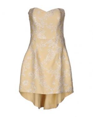 Короткое платье FRANCESCA PICCINI. Цвет: светло-желтый