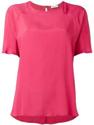 Базовая футболка Dondup. Цвет: розовый и фиолетовый