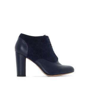 Ботинки-дерби на высоком каблуке La Redoute Collections. Цвет: шоколадный