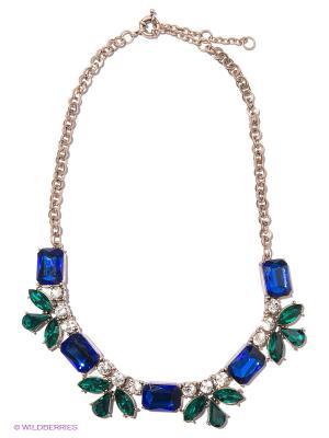 Колье Milana Style. Цвет: синий