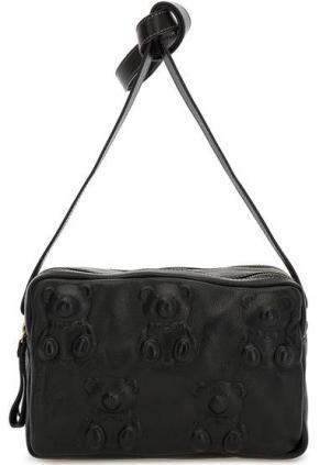 Маленькая кожаная сумка с двумя отделами Io Pelle. Цвет: черный