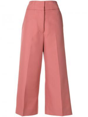 Укороченные расклешенные брюки Marni. Цвет: розовый и фиолетовый