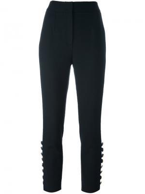 Укороченные брюки с лампасами Dolce & Gabbana. Цвет: чёрный