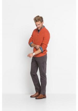 Пуловер. Цвет: темно-оранжевый, темно-синий