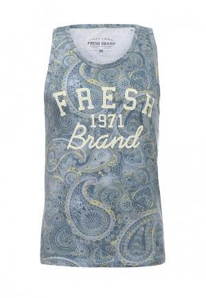 Майка Fresh Brand. Цвет: голубой