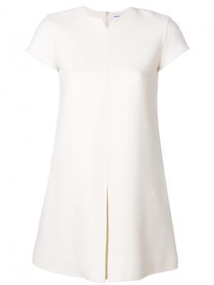 Строгое платье шифт Courrèges. Цвет: белый