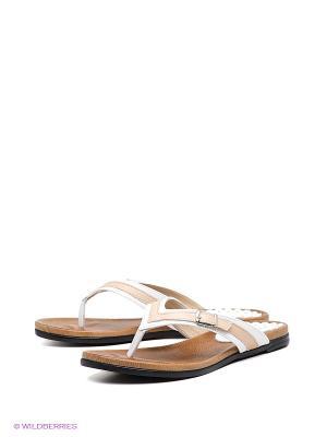 Пантолеты Felina shoes. Цвет: белый, бежевый