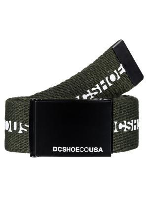 Ремень DC Shoes. Цвет: оливковый, темно-зеленый, хаки