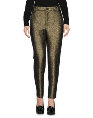 Повседневные брюки TRUE TRADITION. Цвет: золотистый