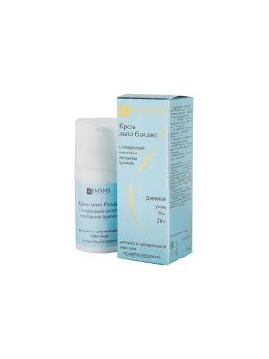 Emansi Крем аква баланс для сухой, чувствительной кожи лица. Дневной уход. 30 мл. Цвет: белый
