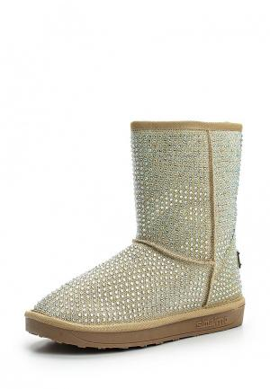 Полусапоги Ideal Shoes. Цвет: золотой