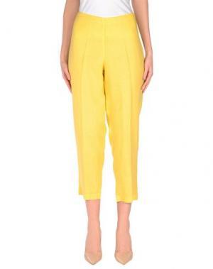 Повседневные брюки STEFANO MORTARI. Цвет: желтый
