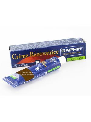 Восстановитель кожи Creme RENOVATRICE, 25 мл. (жидкая кожа)(37 средне-коричневый) Saphir. Цвет: терракотовый