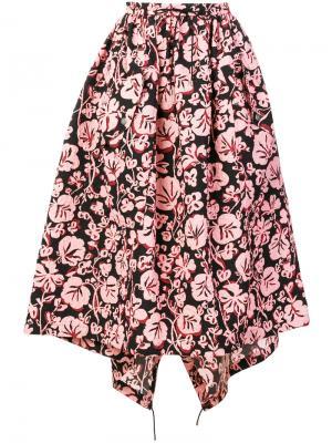 Пышная юбка с цветочным принтом Kenzo. Цвет: чёрный