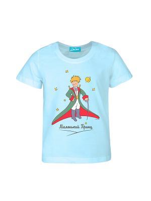 Футболка Маленький Принц со шпагой. Цвет: голубой