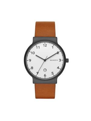 Часы SKAGEN. Цвет: коричневый, серебристый, черный