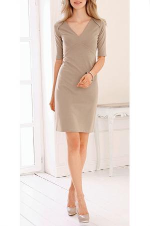 Платье MARCA-M. Цвет: бежевый