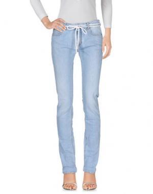 Джинсовые брюки OFF-WHITE™. Цвет: синий