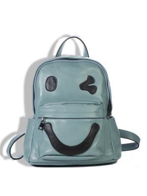 Рюкзак AnnA Wolf. Цвет: серо-голубой, черный