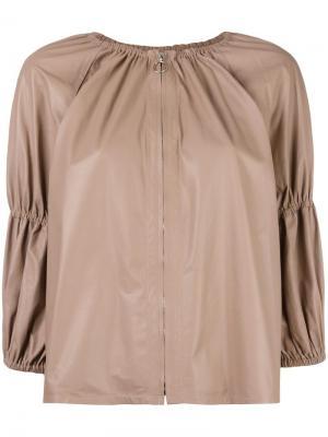 Кожаная куртка Sand Drome. Цвет: коричневый