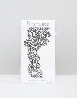 Facelace Украшение для лица Face Lace Mehndoodle. Цвет: черный