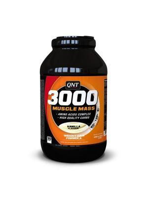 Гейнер QNT Muscle Mass 3000 (ваниль),4,5 кг. Цвет: черный