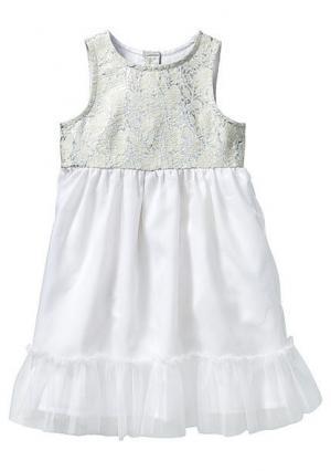 Платье. Цвет: белый/серебристый