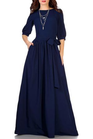 Платье Olivegrey. Цвет: темно-синий