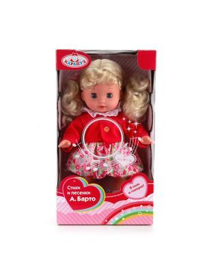 Кукла Карапуз 30см, руссифицированная, песенки и стихи А.Барто. Цвет: красный