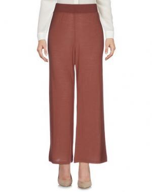 Повседневные брюки SIYU. Цвет: коричневый