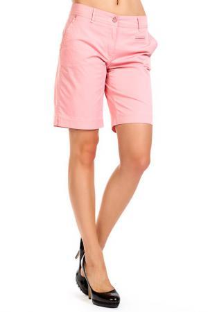 Шорты-бермуды PPEP. Цвет: розовый