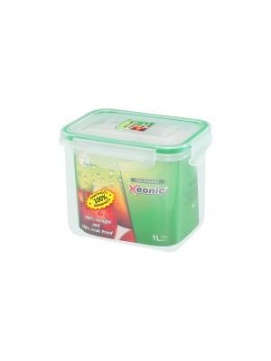 Контейнер герметичный 1 л XEONIC CO LTD. Цвет: прозрачный, зеленый