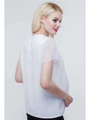 Блузка TUTTA MAMA. Цвет: белый