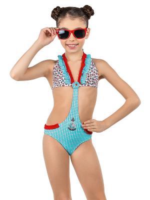 Слитный купальник Arina. Цвет: голубой