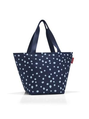 Сумка Shopper M spots navy Reisenthel. Цвет: синий, голубой