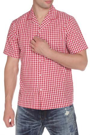 Рубашка American Apparel. Цвет: красная- белая клетка