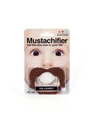 Пустышка Mustachifier - Cowboy. Цвет: коричневый, прозрачный