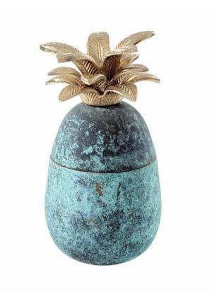 Декоративная емкость Heine Home. Цвет: синий/золотистый