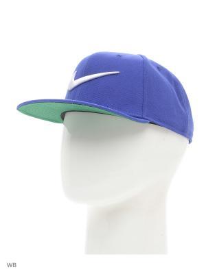 Бейсболка SWOOSH PRO - BLUE Nike. Цвет: голубой, серебристый