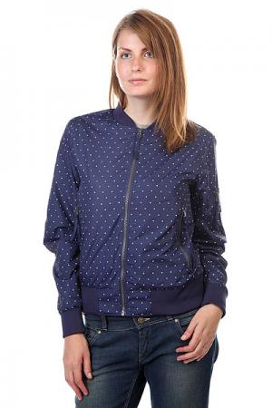 Бомбер женский  Lorensberg Jacket Patriot Dot CLWR. Цвет: синий
