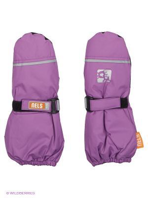Варежки NELS. Цвет: фиолетовый