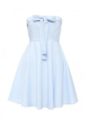 Платье QED London. Цвет: голубой