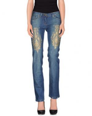 Джинсовые брюки LUPATTELLI. Цвет: синий