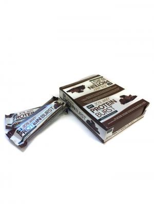 Батончик PROTEIN BURST BAR шоколад, (12 шт) QNT. Цвет: коричневый, желтый, белый, синий