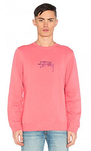 New stock applique crew Stussy. Цвет: розовый